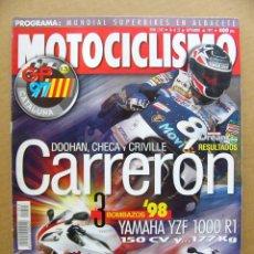 Coches y Motocicletas: MOTOCICLISMO Nº 1543 AVANCE YAMAHA YZF 1000 R1 Y SUZUKI TL 1000 RW Y GSXR 750 . Lote 120836455