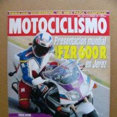 Coches y Motocicletas: MOTOCICLISMO Nº 1346 YAMAHA FZR 600 TT 600 HONDA CBR ARBIZU YAMAHA 750 SR MOTOS CORTES. Lote 120953819