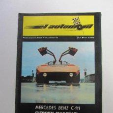 Coches y Motocicletas: EL AUTOMOVIL Nº 14 MERCEDES- 1970 - C CS119. Lote 121025839