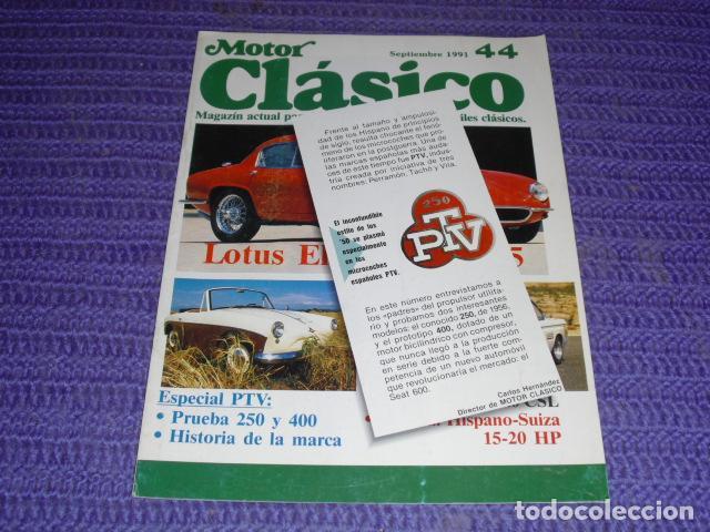 MOTOR CLÁSICO - Nº 44 - ESPECIAL PTV (Coches y Motocicletas - Revistas de Motos y Motocicletas)