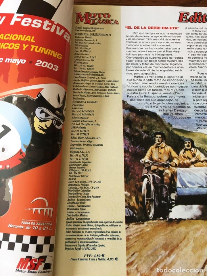 Coches y Motocicletas: REVISTA MOTO CLÁSICA NUM 5 BULTACO GILERA YANKEE COTA MONTESA - Foto 2 - 122096840
