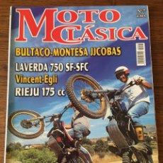 Coches y Motocicletas: REVISTA MOTO CLÁSICA NUM 7 TRIAL BULTACO RIEJU LAVERDA MONTESA JJCOBAS. Lote 122097139