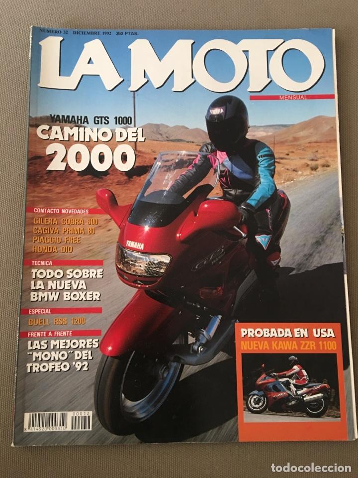 REVISTA LA MOTO NUM 32 1992 YAMAHA GILERA PIAGGIO HONDA BNW CAGIVA (Coches y Motocicletas - Revistas de Motos y Motocicletas)