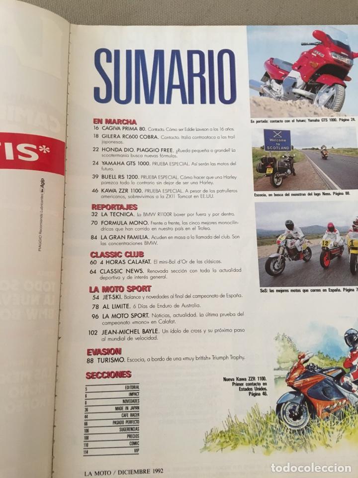 Coches y Motocicletas: REVISTA LA MOTO NUM 32 1992 YAMAHA GILERA PIAGGIO HONDA BNW CAGIVA - Foto 3 - 122105742
