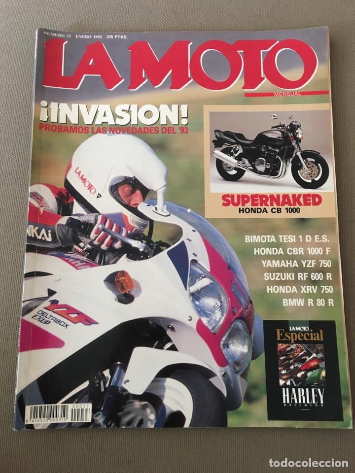 REVISTA LA MOTO NUM 33 1993 HONDA SUZUKI BMW BIMOTA YAMAHA (Coches y Motocicletas - Revistas de Motos y Motocicletas)