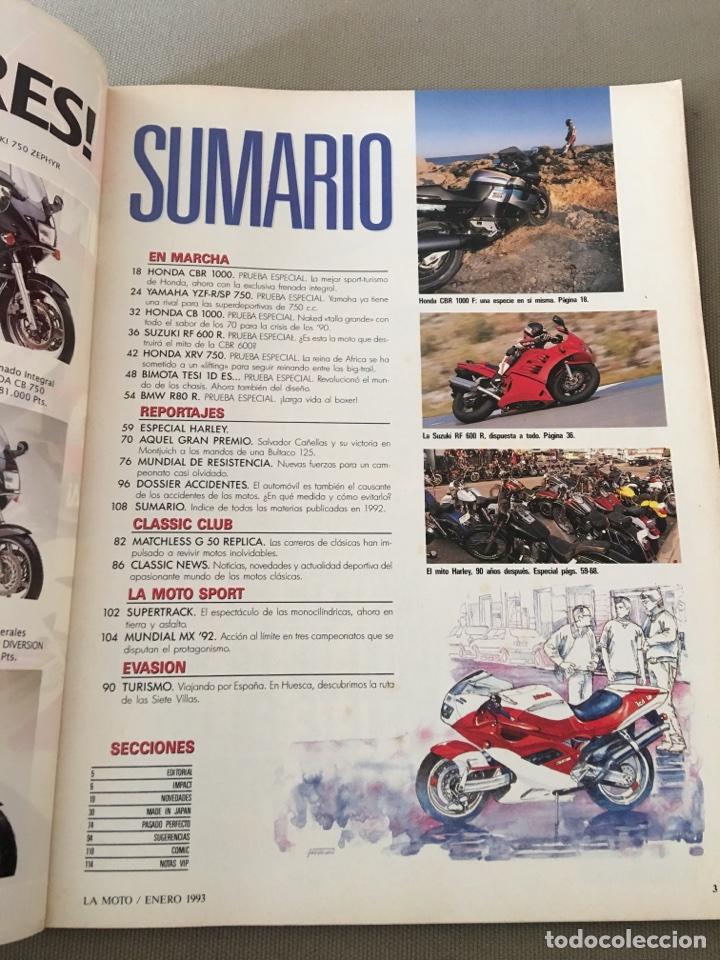 Coches y Motocicletas: REVISTA LA MOTO NUM 33 1993 HONDA SUZUKI BMW BIMOTA YAMAHA - Foto 2 - 122105918