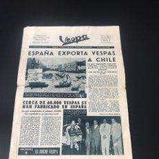 Coches y Motocicletas: ANTIGUO PERIÓDICO VESPA AÑOS 50. Lote 122208539