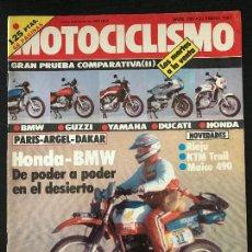 Coches y Motocicletas: MOTOCICLISMO Nº 785 - ENE 1983 - GUZZI V 65 / BMW R 65 / DUCATI PANTAH 500 SL / KTM 500 SCRAMBLER. Lote 124426343