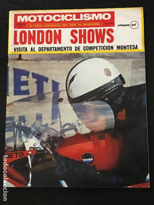 MOTOCICLISMO FEBRERO 1971 - MONTESA BRIO 50 / SALON LONDRES / DUCATI 750 / MANX 500 / MONTESA (Coches y Motocicletas - Revistas de Motos y Motocicletas)