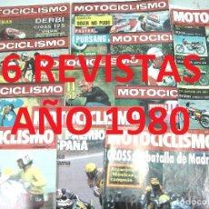 Coches y Motocicletas: 6X MOTOCICLISMO AÑO 1980 ¡¡M.B.ESTADO¡¡ 644.645.659.667.672.1159. REVISTA-MOTO CICLISMO-NUMERO. Lote 124698295