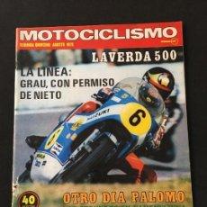 Coches y Motocicletas: REVISTA MOTOCICLISMO SEGUNDA QUINCENA AGOSTO 1975 PRUEBA MONTESA COTA 247. Lote 124703951