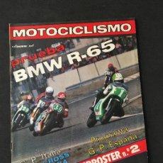 Coches y Motocicletas: REVISTA MOTOCICLISMO NUMERO 610 MAYO 1979 PRUEBA BMW R-65. Lote 147908057