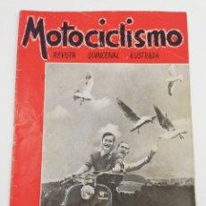 Coches y Motocicletas: REVISTA MOTOCICLISMO NUMERO 20, JUNIO 1952, LAMBRETTA HARLEY, VER SUMARIO, DIFICIL.. Lote 125410258