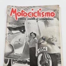 Coches y Motocicletas: REVISTA MOTOCICLISMO NUMERO 69 EXTRAODINARIO, AÑO IV JULIO 1954, VESPA OSSA, VER SUMARIO.. Lote 125413207