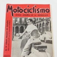 Coches y Motocicletas: REVISTA MOTOCICLISMO NUMERO 53, AÑO III, SEGUNDA QUINCENA DE OCTUBRE 1953, VESPA, VER SUMARIO.. Lote 125414086