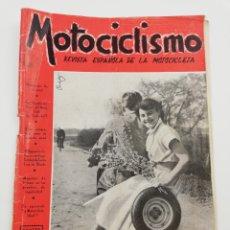Coches y Motocicletas: REVISTA MOTOCICLISMO NUMERO 59, AÑO IV, SEGUNDA ENERO 1954, VER SUMARIO.. Lote 125414444