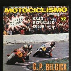 Coches y Motocicletas: MOTOCICLISMO 2ª QUINCENA - JULIO 1975 - PUCH X 30 / 24 HORAS MONTJUIC / DUCATI 125 TT / GP BELGICA. Lote 126049003