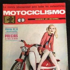 Coches y Motocicletas: MOTOCICLISMO - ABRIL 1968 - DERBI SCOTMATIC / JACKY PORTE MONTESA / NORTON ATLAS / MOTO CROSS . Lote 126054015