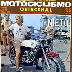 Coches y Motocicletas: REVISTA MOTOCICLISMO CON CARTEL SEGUNDA QUINCENA AGOSTO 1972 PRUEBA GUZZI GT850. Lote 126451711
