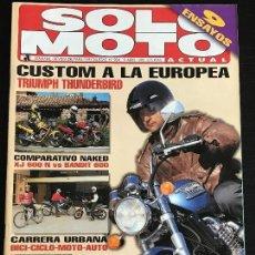 Coches y Motocicletas: SOLO MOTO ACTUAL - Nº 984 - ABRIL 1995 - TRIUMPH THUNDERBIRD / SUZUKI BANDIT 600 / YAMAHA XJ 600 N. Lote 127901819