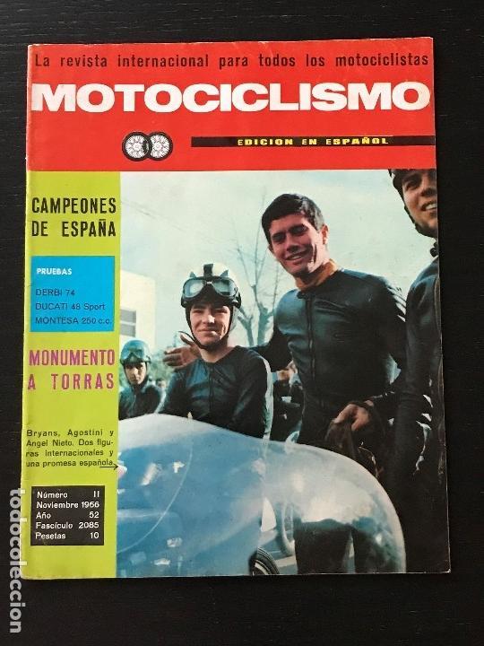 MOTOCICLISMO - NOVIEMBRE 1966 - DERBI 74 GRAN SPORT / DUCATI 48 TS Y SPORT / MONTESA SPORT 250 (Coches y Motocicletas - Revistas de Motos y Motocicletas)