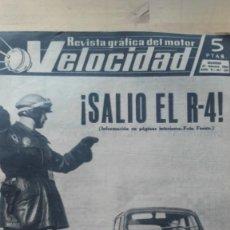 Automobili e Motociclette: REVISTA GRAFICA DEL MOTOR VELOCIDAD. AÑO V. Nº. 129. 1964. ¡SALIO EL R-4!. Lote 128161643