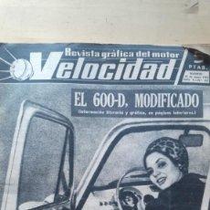 Coches y Motocicletas: REVISTA GRAFICA DEL MOTOR VELOCIDAD. AÑO V. Nº. 142. 1964. EL SEAT 600-D, MODIFICADO.. Lote 128162295