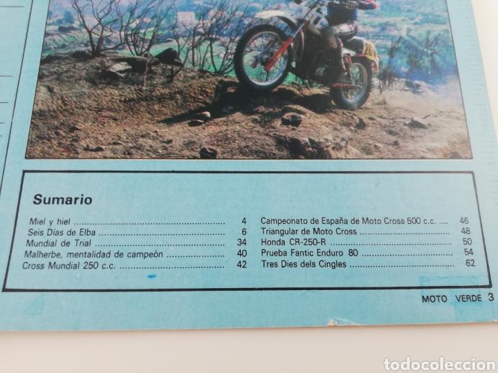 Coches y Motocicletas: REVISTA MOTO VERDE NOVIEMBRE 1981 NUMERO 40, FANTIC ENDURO HONDA CR-250-R VER SUMARIO - Foto 2 - 128554238