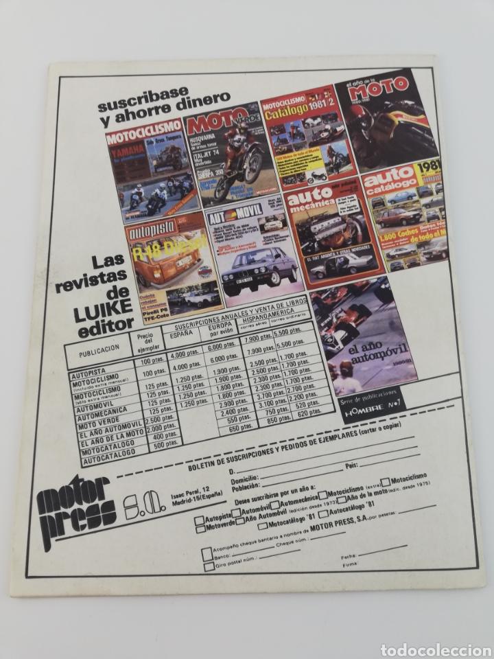 Coches y Motocicletas: REVISTA MOTO VERDE NOVIEMBRE 1981 NUMERO 40, FANTIC ENDURO HONDA CR-250-R VER SUMARIO - Foto 4 - 128554238