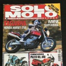 Coches y Motocicletas: SOLO MOTO ACTUAL - Nº 1019 - DIC 1995 - HONDA HORNET 250 / APRILIA SHIVER 1000 / TM 125 / KYMCO K 12. Lote 128608763