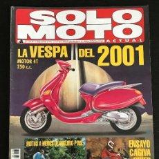 Coches y Motocicletas: SOLO MOTO ACTUAL - Nº 1018 - DIC 1995 - CAGIVA RIVER / KTM SX 125 - 250 / BETA ALP / TRIUMPH X90. Lote 128609555