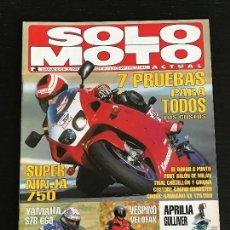 Coches y Motocicletas: SOLO MOTO ACTUAL - Nº 1017 - DIC 1995 - KAWASAKI NINJA ZX 7R / KAWASAKI KX 125 - 250 / YAMAHA SZR . Lote 128610163