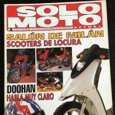 Coches y Motocicletas: SOLO MOTO ACTUAL - Nº 1016 - NOV 1995 - HONDA XR 400 R / HONDA BALI 50 / GAS GAS JTR / HONDA CR 125 . Lote 128610415