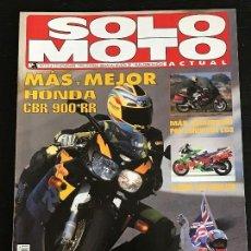 Coches y Motocicletas: SOLO MOTO ACTUAL - Nº 1014 - NOV 1995 - HONDA CBR 900 RR / HONDA SR 1100 / HONDA NSR 500 V . Lote 128610811