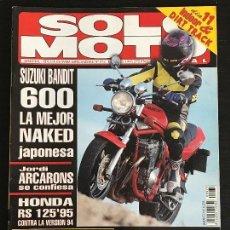 Coches y Motocicletas: SOLO MOTO ACTUAL - Nº 973 - ENERO 1995 - SUZUKI GSF 600 N / BATTLEMAX 1200 / SUZUKI VS 600 . Lote 128612519