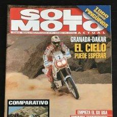 Coches y Motocicletas: SOLO MOTO ACTUAL - Nº 971 - ENERO 1995 - HONDA CBR 600 / SUZUKI AN 125 / PINGÜINOS . Lote 128612707