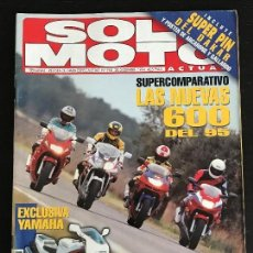 Coches y Motocicletas: SOLO MOTO ACTUAL - Nº 968 - DIC 1994 - HONDA CBR 600F / KAWASAKI ZX 6R / SUZUKI RF 600R / YAMAHA FZR. Lote 128613335