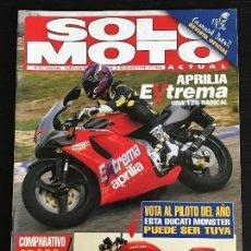Coches y Motocicletas: SOLO MOTO ACTUAL - Nº 967 - DIC 1994 - APRILIA RS 125 R / ITALJET FORMULA 50 / CROSS 125. Lote 128642343