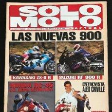 Coches y Motocicletas: SOLO MOTO ACTUAL - Nº 927 - MARZO 1994 - HONDA RVF 750R / CRIVILLE /KAWASAKI ZX 9R / SUZUKI RF 900R. Lote 128642643