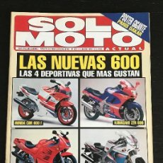 Coches y Motocicletas: SOLO MOTO ACTUAL - Nº 921 - FEB 1994 - HONDA CBR 600F / KAWASAKI ZZR 600 / SUZUKI RF 600F. Lote 128643623