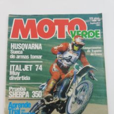 Coches y Motocicletas: REVISTA MOTO VERDE NUMERO 38 SEPTIEMBRE 1981, ITALJET 74, SHERPA 350, HUSQVARNA, VER SUMARIO. Lote 128652300