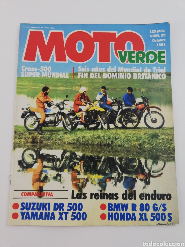 REVISTA MOTO VERDE NUMERO 39 OCTUBRE 1981, POSTER DAVID FILLAT, COMPARATIVA ENDURO, VER SUMARIO (Cars and Motorcycles - Motorcycle and Motorbike Magazines)