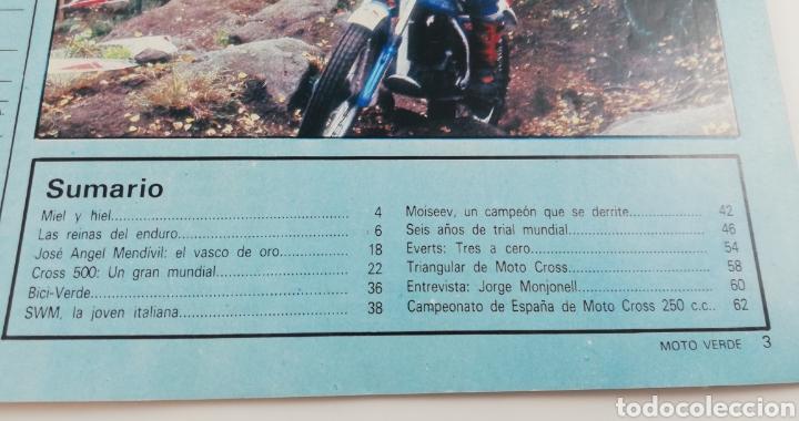 Cars and Motorcycles: REVISTA MOTO VERDE NUMERO 39 OCTUBRE 1981, POSTER DAVID FILLAT, COMPARATIVA ENDURO, VER SUMARIO - Foto 2 - 128652850