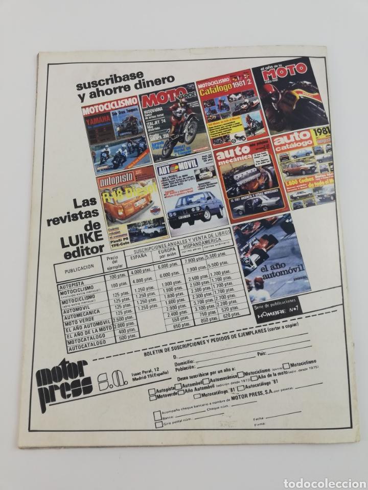 Cars and Motorcycles: REVISTA MOTO VERDE NUMERO 39 OCTUBRE 1981, POSTER DAVID FILLAT, COMPARATIVA ENDURO, VER SUMARIO - Foto 4 - 128652850