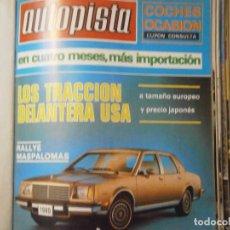 Coches y Motocicletas: ¡REVISTA ¡¡AUTOPISTA (18 DE MARZO DE 1979)Nº 1.045. Lote 128920731