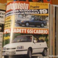 Coches y Motocicletas: ¡REVISTA ¡¡AUTOPISTA (21 DE JULIO DE 1988)Nº1514. Lote 128923883