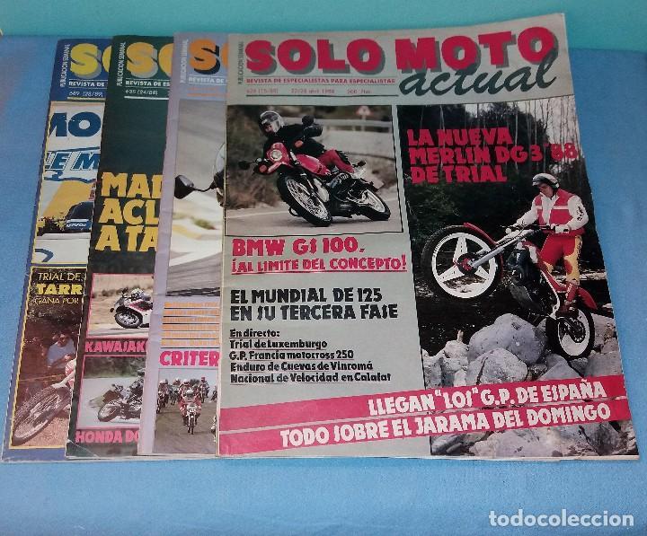 LOTE DE 5 REVISTAS SOLO MOTO ACTUAL GRAN FORMATO AÑOS 80 EN BUEN ESTADO VER RELACION DE NUMEROS (Coches y Motocicletas - Revistas de Motos y Motocicletas)