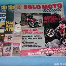 Coches y Motocicletas: LOTE DE 5 REVISTAS SOLO MOTO ACTUAL GRAN FORMATO AÑOS 80 EN BUEN ESTADO VER RELACION DE NUMEROS. Lote 128974271