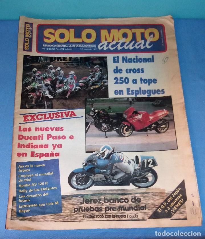 Coches y Motocicletas: LOTE DE 5 REVISTAS SOLO MOTO ACTUAL GRAN FORMATO AÑOS 80 EN BUEN ESTADO VER RELACION DE NUMEROS - Foto 2 - 128974271