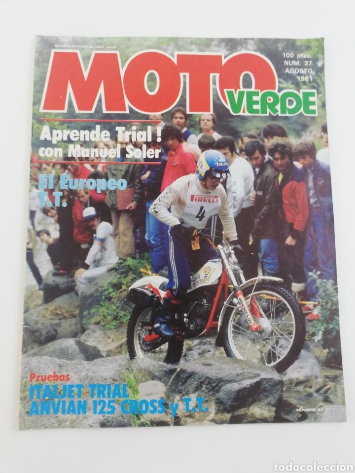 REVISTA MOTO VERDE NUMERO 37 AGOSTO 1981 POSTER DOMINGO ZABALA VER SUMARIO (Coches y Motocicletas - Revistas de Motos y Motocicletas)